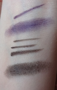 Maybelline Gel liner swatches